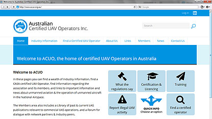 Australian Certified UAV Operators Inc. website