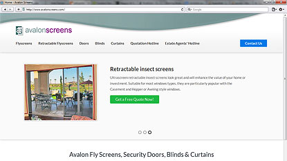 Avalon Screens website